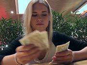 Sweet Czech girl Violette boned for cash