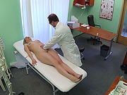 Blonde patient gets fucked by her doctor
