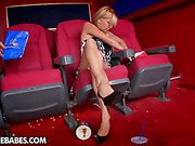 Foot fetish at the movies
