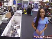 Real spycam of black slut