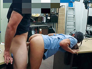 Brunette Nurse  Fucked inside the pawn shop office while she is selling her Collection