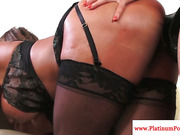 Ava Devine double penetrated roughly with strapon