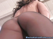 Pantyhose lover pleasing her clit