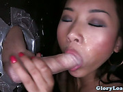 Gloryhole loving asian facialized and she cant get enough