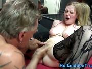 Dutch hooker cummed on