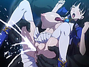 Busty hentai coed fingering pussy and squirting cum