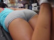 Sexy brunette chick get fucked hardcore inside the secret pawnshop