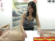 Real nuru masseuse plays with dick
