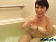 Blowing mature asian slut