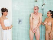 Hot milf Eva Karera hot threesome action