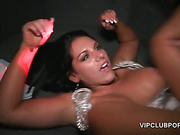 Horny babe get pussies smashed in the VIP