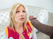 Teen blonde Scarlet Red had a fetish for huge cock