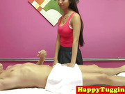 Bigtit asian masseuse tugging for extra cash