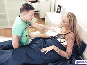 Sick stepmom get well by having a 3some