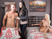 Enjoy watching awesome threesome with my horny stepmom