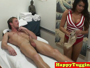 Bigtitted oriental masseuse blows client