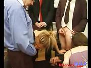 Businessmen Group Banging Nasty MILF