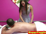 Asian handjob masseuse on spycam caught