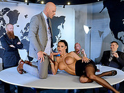Busty beauty Peta Jensen boned at office