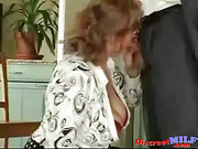 Mature MILF giving to her husband