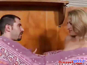 Young guy jump in bed with his mature aunt