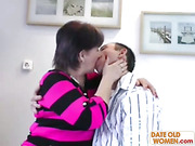Russian granny fucked on the kitchen table