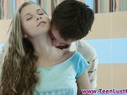 Hot euro teen gets facial