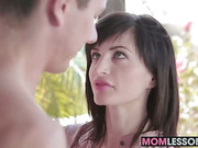 Megans BF getting a blowjob lesson from her hot stepmom Ava