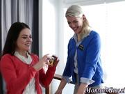Blonde mormon les licked