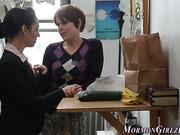Teen mormon licks les