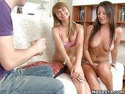 2 hotties in amazing threesome