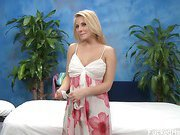 Cute blond Madison Ivy seduced and fucked hard by her massage therapist