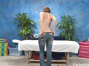 18 year old Holly gets fucked hard from behind by her massage therapist