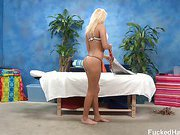 Cute 18 year old Ivana seduced and fucked hard after her free massage!