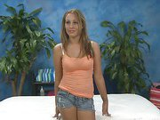 Lizzy London seduced and fucked hard after her free massage!