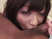 Miss Kitty Aika Hoshino finds her shaved pussy fingered