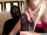 Blonde Girl Loves The Black Cock