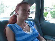 Redhead Sucks Cock For Ride Home