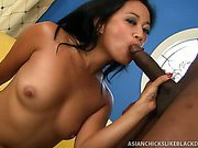 Oriental Lucky Starr Split By Black Cock