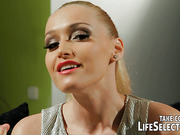 Kathia Nobil in her dirty fantasy, as a strict dominatrix makes her pretty maid, Samia Duarte to play her sex slave in a real kinky lesbian romp!