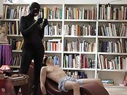 Catsuit intruder fucks her sex slave