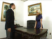 Stunning Blonde Boss Fucks Her Employee