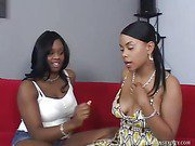 Two Ebony Lesbians Eating Pussy