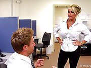 Bitchy Blond Goddess Holly Halston is the Ultimate MILF Boss!