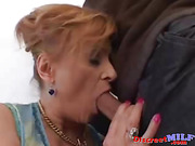 Redhead cougar get fucked by younger man