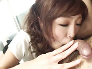 Hot tongued Miina gives her man a sloppy ass rimming job