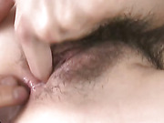 Kanon Hanai findss her face and pussy fucked at the same time by two horny guys