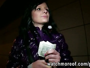 Glamour euro chick Maja fucked for cash