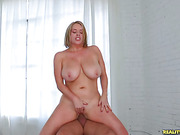 Check out these massive tits bounce as this blonde gets pounded.
