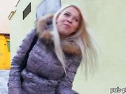 Eurobabe Karol pussy fucked for money